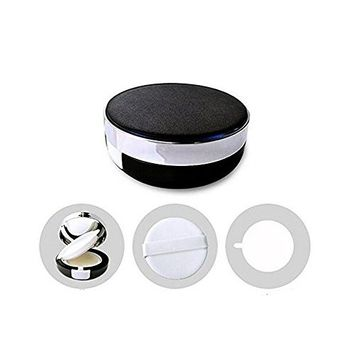 15ML 0.5OZ Portable Empty Air Cushion Puff Container Case Powder Box with Sponge Puff and Mirror for BB CC Liquid Make up Foundation (Black)