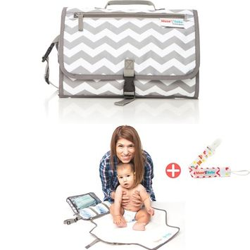 Muse BeBe ~ Portable Changing Pad & Diaper Changing Station | 2-in-1 Detachable Mat & Compact Bag | The Stylish Diaper Clutch for Modern Moms
