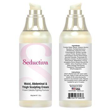 Seductiva Waist, Abdominal & Thigh Sculpting Cream   Potent Cellulite Fighting Formula   Body Slimming & Firming