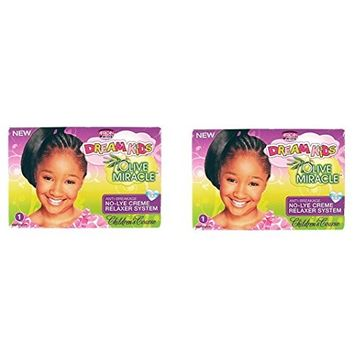 [ PACK OF 2] African Pride Dream Kids Olive Miracle Relaxer Coarse 1 app: Beauty