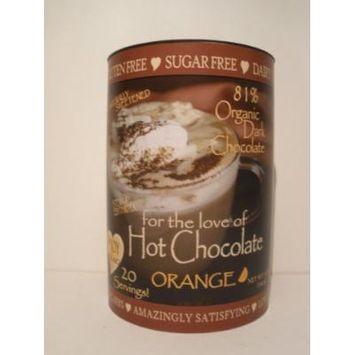 InJoy Organics, Organic, Dark Chocolate, Dairy Free, Sugar Free, Gluten Free, Hot Chocolate, Orange, 20 Servings