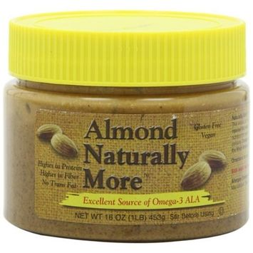 Natually More Naturally More Almond Butter Natural, 16-Ounce (Pack of 3)