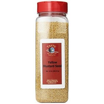 TASTE Specialty Foods Mustard Seeds, Yellow, 24-Ounce Plastic Container