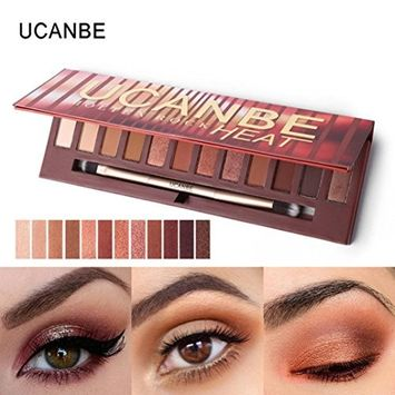 CYCTECH 12 Colors Shimmer Matte Palette Glitter Eye Shadow for Professional Makeup or Daily Use