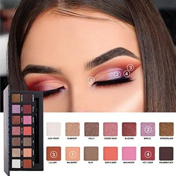 Eyeshadow Palette,CYCTECH 14 Colors Waterproof Glitter Eye Shadow Powder Powder Makeup Cosmetic