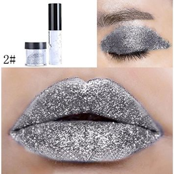 CYCTECH 20 Colors Shimmer Glitter Lip Gloss Powder Palette Glitter Eye Shadow for Professional Makeup or Daily Use