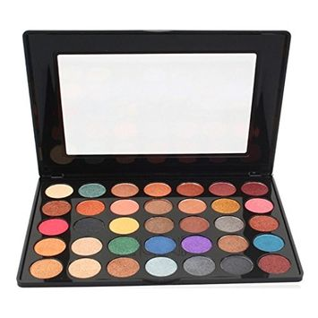 CYCTECH 35 Colors Matte Eyeshadow Palette Shimmer Glitter Eye Shadow Powder for Professional Makeup