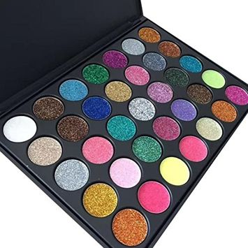 CYCTECH 35 Colors Shimmer Matte Palette Glitter Eye Shadow Powder for Professional Makeup or Daily Use