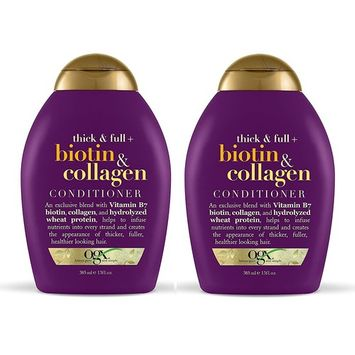 OGX Conditioner, Thick & Full Biotin & Collagen, 13 oz (Pack of 2)