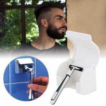 Men's Razor Shaver Sucked Sticky Cup Holder Hanger Holder Bathroom Tools