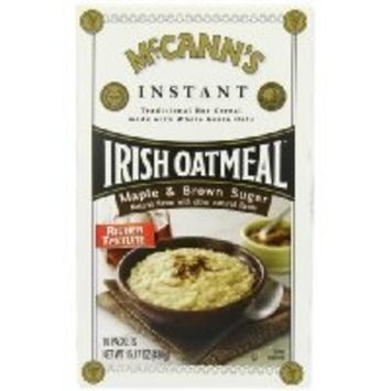 McCANN'S Instant Irish Oatmeal, Maple & Brown Sugar, 10-Count Boxes (Pack of 6) have a problem Contact 24 hour service Thank You