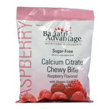 Bariatric Advantage 250 mg Calcium Citrate Chewy Bites (60 counts) -Raspberry (Sugar Free)