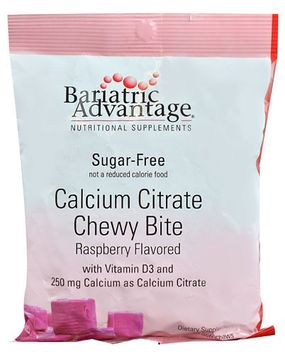 Bariatric Advantage Calcium Citrate Chewy Bite Raspberry 250 mg - 60 Soft Chews