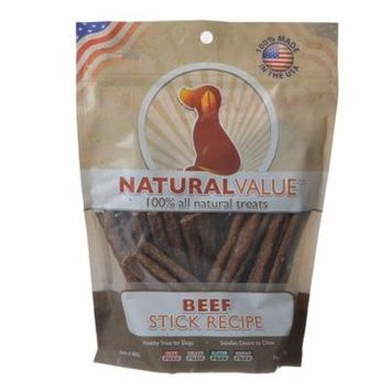 Loving Pets Natural Value Beef Sticks 14 oz - Pack of 10
