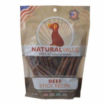 Loving Pets Natural Value Beef Sticks 14 oz - Pack of 12