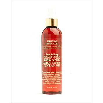 Bronzo's SPF 0 Certified Organic Carrot Oil 8.5 oz.