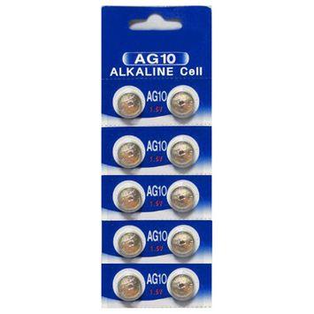 AG10 / LR1130 Alkaline Button Watch Battery 1.5V - 10 Pack -!