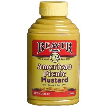 Beaver Brand Yellow Mustard, 12.5-Ounce Squeezable Bottles (Pack of 6)