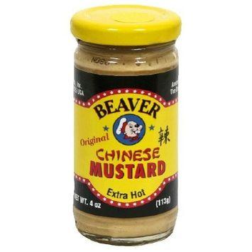 Beaver, Mustard Chinese Hot, 4 OZ (Pack of 12)