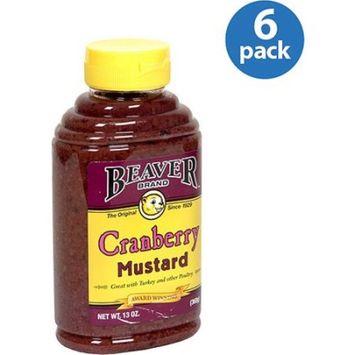 Beaver Mustard Cranberry Squeezable Bottle, 13 oz