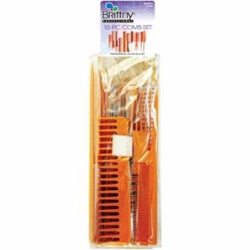 Brittny Comb Set - Bone 10-Count (Pack of 2)