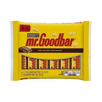 MR. GOODBAR Milk Chocolate Bars, 6 Count, 10.5 Ounce