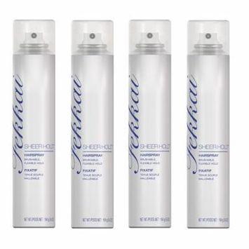 Fekkai Sheer Hold Hairspray, 5.8 Oz (Pack of 4) + Makeup Blender Stick, 12 Pcs