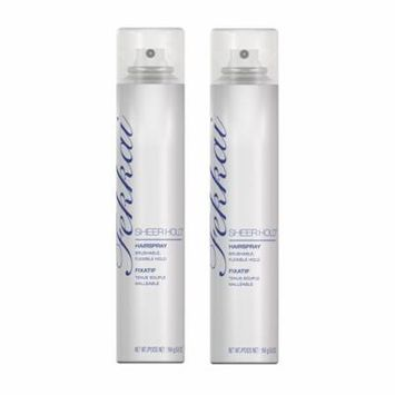 Fekkai Sheer Hold Hairspray, 5.8 Oz (Pack of 2) + Makeup Blender Stick, 12 Pcs