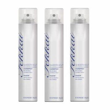 Fekkai Sheer Hold Hairspray, 5.8 Oz (Pack of 3) + Makeup Blender Stick, 12 Pcs