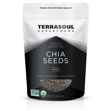 Terrasoul Superfoods Organic Black Chia Seeds, 2.5 Pounds [Black]