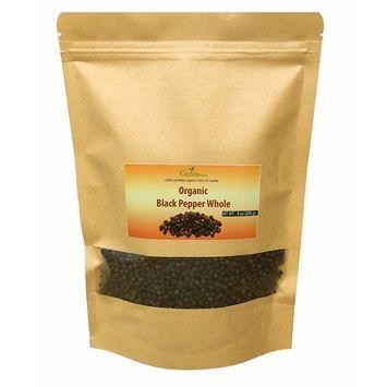 Organic premium grade black peppercorns 9 oz