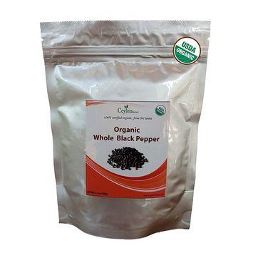 Organic premium grade black peppercorns