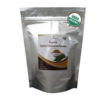 Organic Ceylon Cinnamon Powder 3.5 oz, True Cinnamon, Premium Grade, Harvested & Packed from a USDA Certified Organic Farm in Sri Lanka