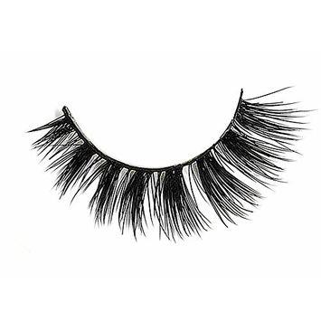 Nature Look False Mink Eyelashes, CLOTHOBEAUTY 1 Pairs Handmade 3D luxurious 100% Real Mink Natural False Eye Lashes,Long Cross Thick Fake Eyelashes, Reusable. (3D-W9)