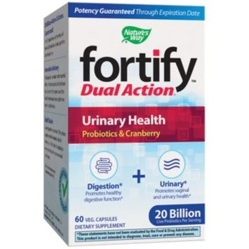 Fortify Dual Action Urinary Health Probiotics 20 BILLION (60 Vegetarian Capsules) by Natures Way at the Vitamin Shoppe