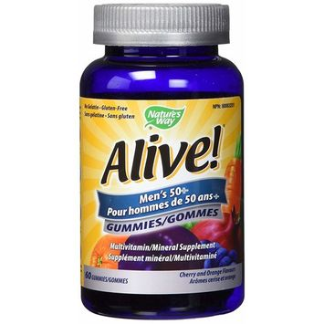 Natures Way Vitamins Gummy Alive Mens 50 Plus, 60 CT
