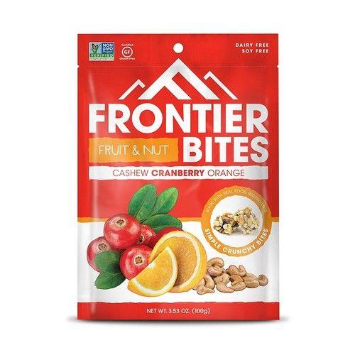 Frontier Gluten Free Snack Bites, Cashew Cranberry Orange, 3 Count [Cashew Cranberry Orange]