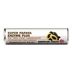 Frontier Super Papaya Enzyme Plus Chewable Roll Case of 16 /12 Tabs by American Health