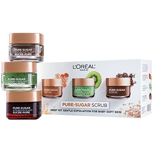 L'Oreal Paris Skin Care Pure Sugar Scrub for Face and Lips [Kit]