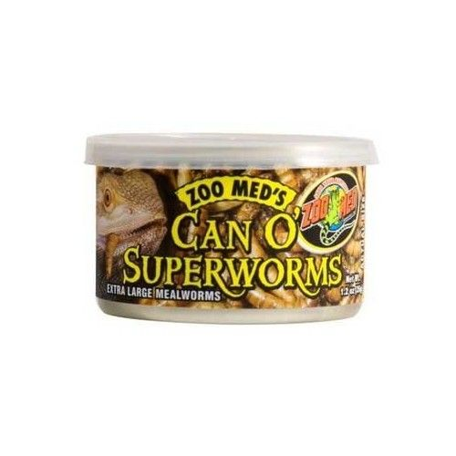 Zoo Med Can O' SuperWorms, 1.2 oz
