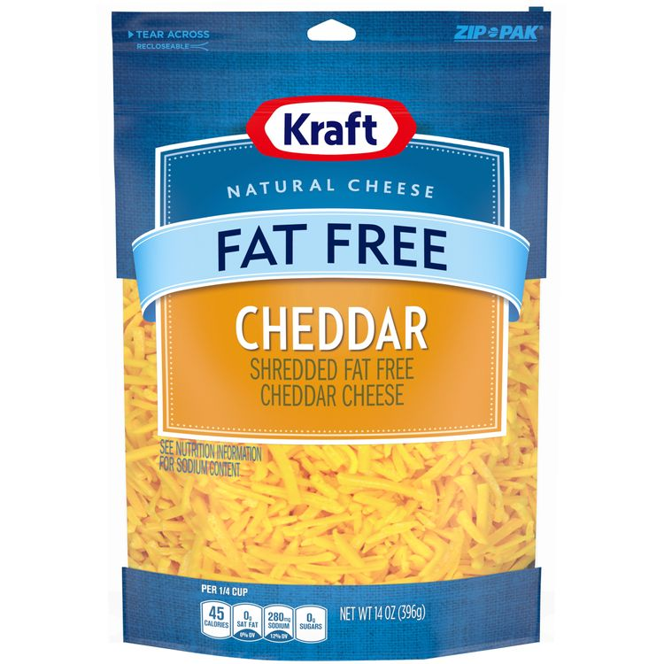 Kraft Fat-Free Cheddar Shredded Natural Cheese