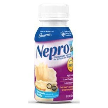 Nepro with Carb Steady Ensure Nepro Complete Nutrition with Carb Steady Vanilla Liquid - 8 Oz / Can, Case of 24