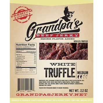 Low Carb Beef Jerky Snacks: 3 Pack of White Truffle Meat Strips - Grandpa's Beef Jerky