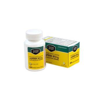 Berkley & Jensen Berkley Jensen Low-Dose Safety-Coated Aspirin, 81 mg, Pack Of 500