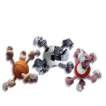 Multipet International 51073 Sport Ball/Rope Dog Toy