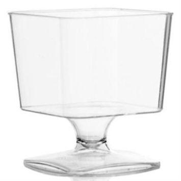 Simcha 2 oz Square Plastic Mousse Cups , 5PK