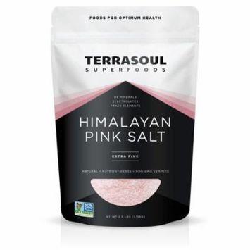 Terrasoul Superfoods Himalayan Pink Salt, Fine, 1.0 Lb
