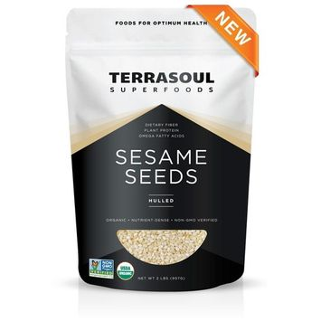 Terrasoul Superfoods Organic Hulled Sesame Seeds, 2 Pounds [White - Hulled]