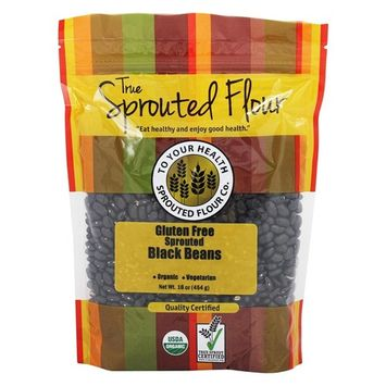 Organic Gluten-Free Sprouted Black Beans - 16 oz.