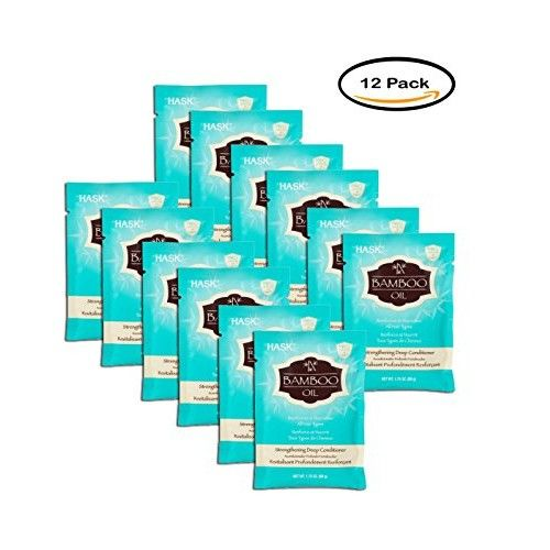 PACK OF 12 - Hask Bamboo Oil Strengthening Deep Conditioner Packet, 1.75 Oz